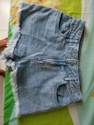 Short Jeans de Cintura Alta