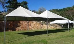 Tenda piramide 5x5 com calha
