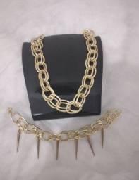 Kit colar + pulseira elegância