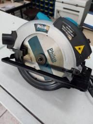 Serra Circular Profissional Philco 1500w Com Guia laser 1 ano de Garantia