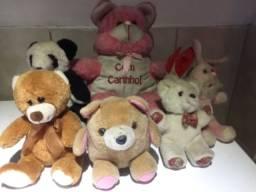Kit 7 ursos tamanhos variados