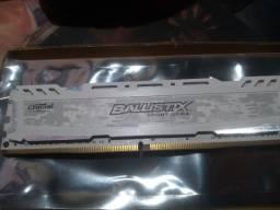 Memória Crucial Ballistix Sport LT, 8GB, 2666MHz, DDR4, CL16
