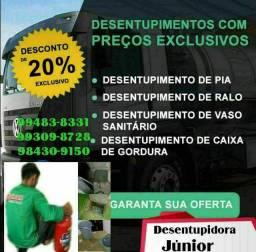 # desentupidora de pia Desentupidora caixa de gordura.