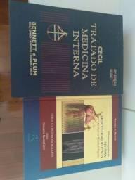 Livros em perfeito estado. CECIL .TRATADO DE MEDICINA INTERNA. ULTRASSONOGRAFIA. SERNIK