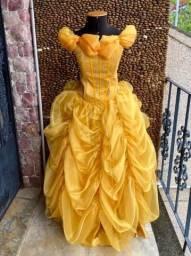 Vestido Princesa Bela - Adulto / Fantasia