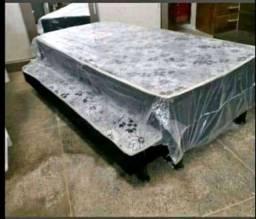 Nova cama box solteiro com auxiliar entrega imediata frete gratis