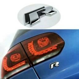Emblema R Line VW Gol,Jetta,Golf,Polo,Fox,Tiguan e Up Tsi