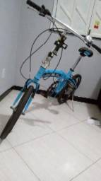 Bicicleta dobrável Shimano Night Riders Azul 7 mar