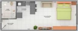 Apartamento Flat sem mobilia 33mts 501 Norte 1 quarto Teotônio segurado