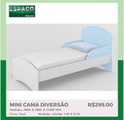 Mini Cama Azul #Entrega E Montagem Grátis