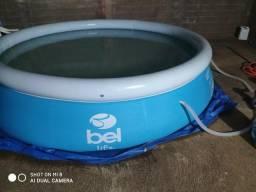 Piscina inflável Bel life 6.200 litros, 3x3 metros diâmetro. Barretos SP