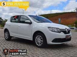 Renault Sandero 1.0 Expression Flex Completo*Com Media Nav*Novíssimo*Ideal pra Uber - 2016