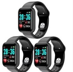SMARTWATCH D20 PRO - Kit com 3 pulseiras - Monitor de Saúde -Notificação de Redes Sociais