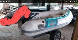 Barco para pesca com a base em fibra fleboat sr-10,