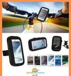 Suporte Impermeável de Celular para Bicicleta e Moto
