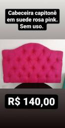 Cabeceira solteiro rosa pink
