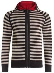 Jaqueta em tricot Striped dupla face c/ capuz Osklen Original Nova - Peça Diferenciada