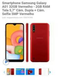 Samsung Galaxy A01 vermelho