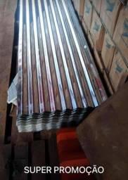 Promoção de telhas zinco+galvanizada mede 2,44 X 0,66 Valor 21,00 reais