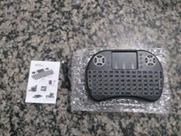 Mini Teclado Wireless Mini Keyboard Usb Sem fio com Touch Pad com luz <br>