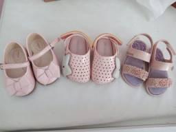 Kit 3 pares de sapatos
