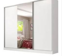 Guarda roupa 3 portas com espelho em MDF