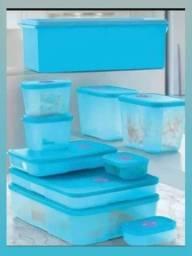 Kit organização  10 peças azul Freezertime Tupperware