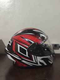 Capacete Airoh Valor Conquer Red Gloss