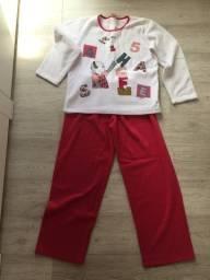 Pijama grossa longa inverno feminina Sonhart plush