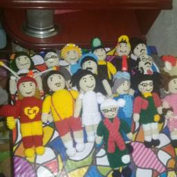 Kit mini amigurumi turma do chaves 15 personagens