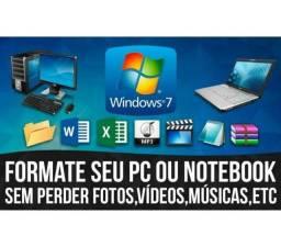 Formatação / Instalação / Manutenção de Notebooks e Desktops