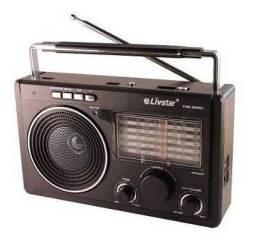Rádio Am Fm Cartão Sd Entrada Usb LivStar Cnn- 686 Bluetooth