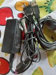 Cabo de força e USB para impressora