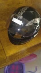 capacete novo 110,00 aceito troca rolo