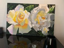 Quadro pintado à mão 1,20 por 0,80
