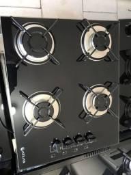Fogão cooktop 4 bocas de mostruário