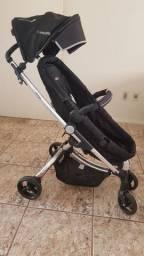 Carrinho de Bebê<br><br>Kiddo Preto/Cinza<br>
