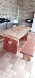 Mesas rústicas madeira maciça em geral