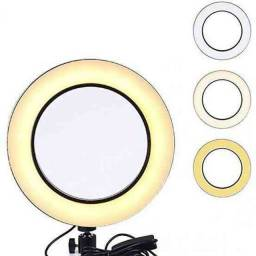 Iluminador RING LIGHT 26 cm com Tripé.