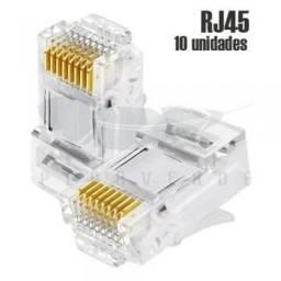 Título do anúncio: Conector Rj45 rede 10 unidades