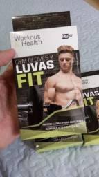 Luvas esportivas para apoio e prevenção atividade física fitness exercícios de musculação
