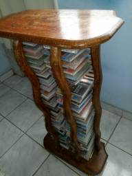 Mesa de colocar CD madeira maciça