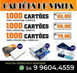 Cartões de Visita Promoção!!!! Cartões Pastas Folders Panfletos Envelopes Adesivos Lonas