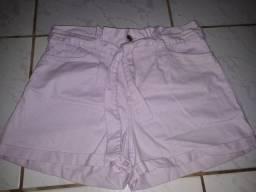 short lilás jeans