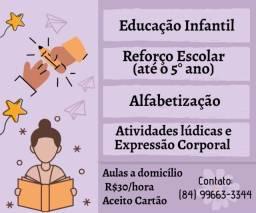 Apoio Pedagógico /Reforço Escolar/ Professora particular