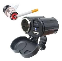 Título do anúncio: Carregador USB Tomada 12v Acendedor de Cigarro P Moto 5v Celular GPS