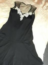 vestido com bojo e tule com bordado tamanho p/m...zap *