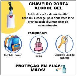 Chaveiro Porta Alcool Gel