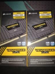 2x Memória Corsair Vengeance LPX 8GB 2400Mhz DDR4 C16 Black