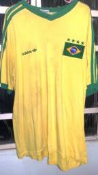 Camisa Adidas Raríssima do Brasil com Taça e Bandeira! Copa 98!